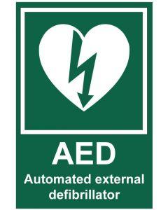 AED defibrillator (b)