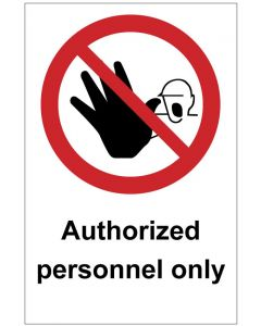 Authorized personnel only (b)