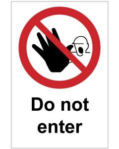 Do not enter (b)
