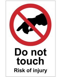 Do not touch Risk of injury (b)