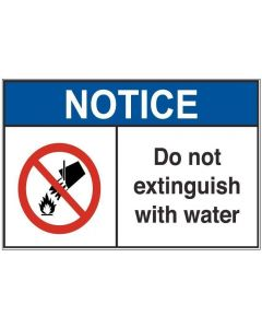 Do Not Extinguish With Water an