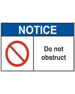 Do Not Obstruct an