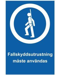 Fallskyddsutrustning måste användas