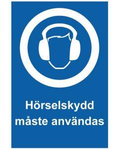 Hörselskydd måste användas