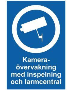 Kameraövervakning med inspelning och larmcentral
