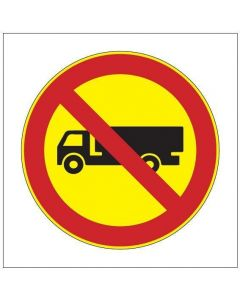 Kuorma- ja pakettiautolla ajo kielletty