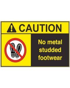 No Metal Studded Footwear ac