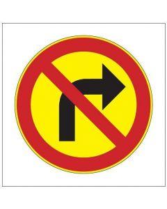 Oikealle kääntyminen kielletty