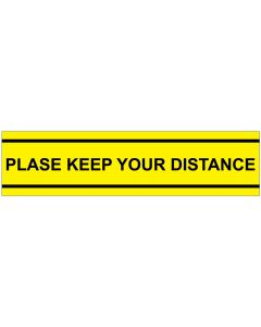 Please keep your distance SK1