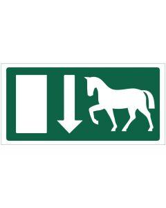 Poistumistie hevostalli JV
