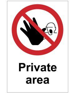 Private area   (b)