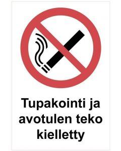 Tupakointi ja avotuli kk