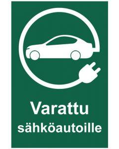 Varattu sähköautoille