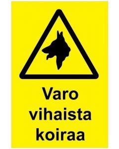 Varo vihaista koiraa kik