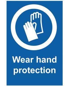Wear hand protection (b)