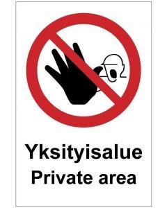Yksityisalue Private area